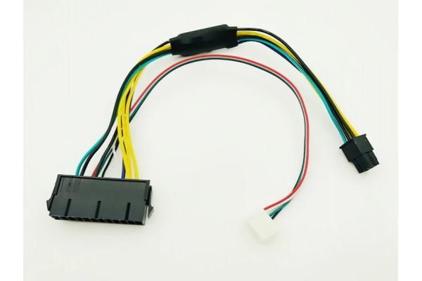 Преходник за захранване от 24 към 6 pin / пин за дънни платки HP