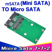 "Адаптер 1.8"" Micro SATA HDD към mini SATA SSD"