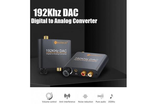 Висококачествен цифрово - аналогов аудио DAC Neoteck с оптичен вход - кабели и преходници - 14601 - nextbg.com