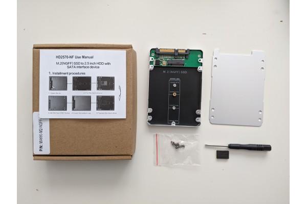 """Външна кутия 2,5"""" SATA3 за M.2 диск/SSD """"Makki"""" - кабели и преходници - 14217 - nextbg.com"""