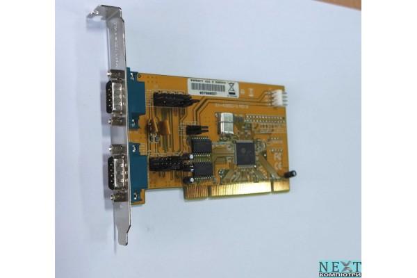 PCI контролер с два COM порта (Powered) - PCI контролери за компютри - 280067386 - nextbg.com