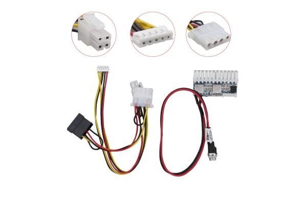Безшумно мини компютърно захранване 12V-вход, 160W-изход - кабели и преходници - 14216 - nextbg.com
