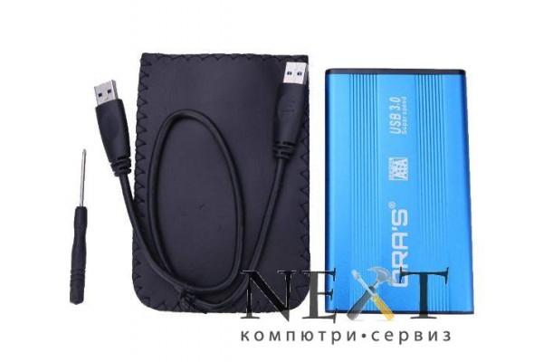 """USB 2.0 алуминиева кутия за външен хард диск 2.5"""" SATA - кабели и преходници - 14512 - nextbg.com"""