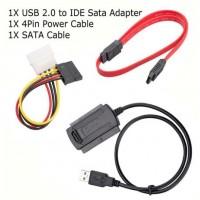 """USB Кабел за връзка към диск 2.5""""/3.5"""" SATA/IDE HDD/DVD/SSD"""