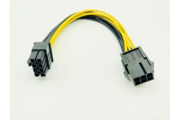 6 пинов към 8 пинов PCI Express захранващ кабел - кабели и преходници - 14208 - nextbg.com