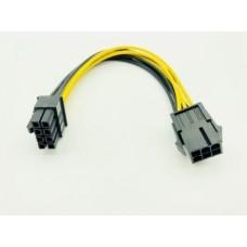 6 пинов към 8 пинов PCI Express захранващ кабел