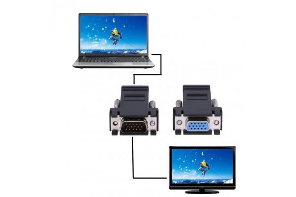 Адаптери VGA женски/мъжки към Lan кабел (RJ45) женски - кабели и преходници - 14020 - nextbg.com