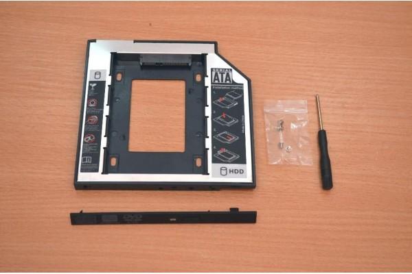 DVD/CD адаптер за 2ри хард диск/SSD за лаптоп 9,5мм - кабели и преходници - 14201 - nextbg.com