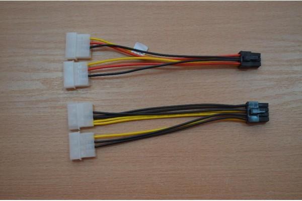 2 x 4-pin (Molex) към 8-pin PCI express - кабели и преходници - 14402 - nextbg.com