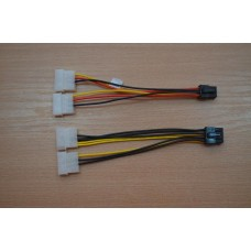2 x 4-pin (Molex) към 8-pin PCI express