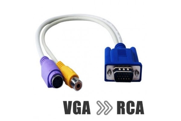 VGA към S-Video и RCA чинч - кабели и преходници - 14019 - nextbg.com